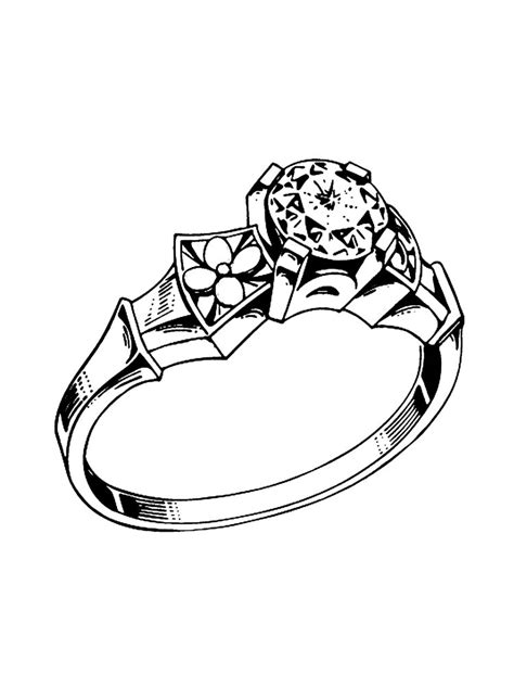 ring coloring pages   print ring coloring pages