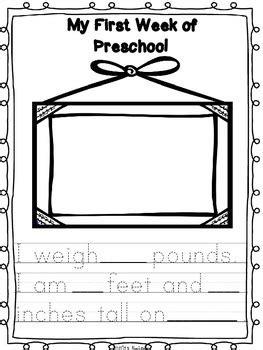preschool keepsake book  week  week activities