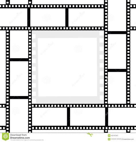 cadre photo cinema pellicule cadre de photo de rubans de pellicule cin 233 matographique illustration stock image 42141347