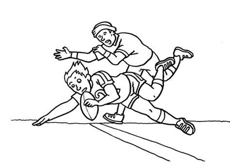 Rugby Kleurplaat by Rugby Coloring