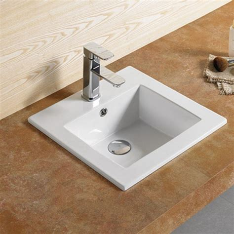 Vasque encastrable carrée Bent Vasque encastrer céramique