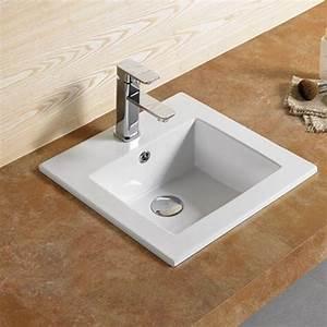 vasque encastrable carree bent vasque encastrer ceramique With vasque salle de bain carrée