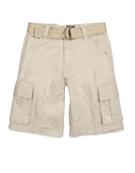 khaki colored cargos belted cargo trousers for cw140285