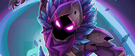 Download 2560x1080 Wallpaper Raven Fortnite Battle Royale Creature Game Dual Wide