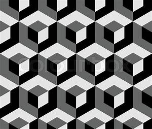Abstract monochrome pattern with overlapping squares ...
