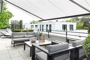 emejing markisen fur balkon design ideen photos house With markise balkon mit tapete edel grau