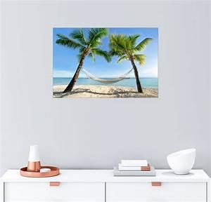Palmen Kaufen Baumarkt : posterlounge wandbild jan christopher becke h ngematte am strand mit palmen in der s dsee ~ Orissabook.com Haus und Dekorationen