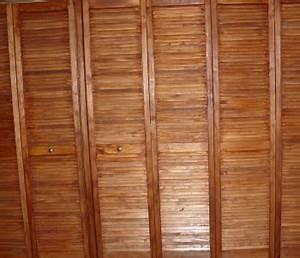 Deco Porte De Placard : portes de placards en stores en bois style asiatique trucs et deco ~ Nature-et-papiers.com Idées de Décoration