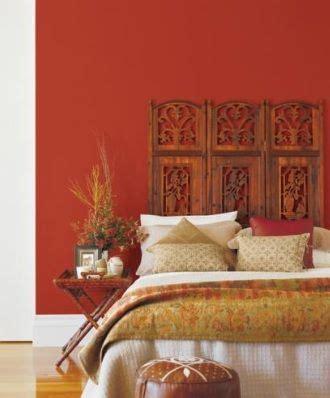 orange red  earthy feel design decor   bedroom