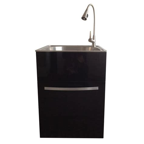 all in one utility sink presenza ql041 all in one 25x22x35 quot stainless steel