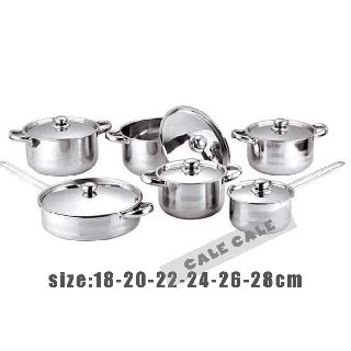 chef classic stainless steel  piece cookware set silver shopee philippines