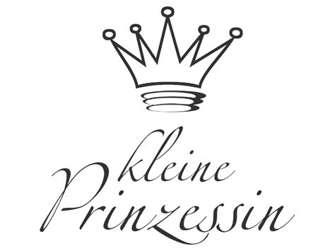 wandtattoo kleine prinzessin schrift mit krone