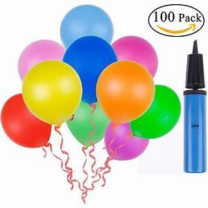 Ballon Mit Mehl Füllen : lictin 100 luftballon und 1 ballonpumpe ballon luftpumpe luftballon ebay ~ Markanthonyermac.com Haus und Dekorationen