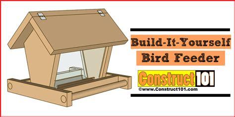 build  bird feeder  plans construct