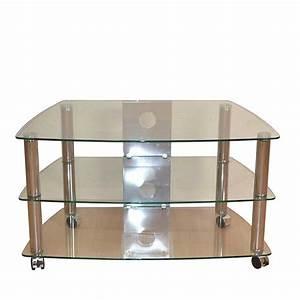 Tv Tisch Aus Glas : rollen tv rack harris aus metall und glas ~ Bigdaddyawards.com Haus und Dekorationen