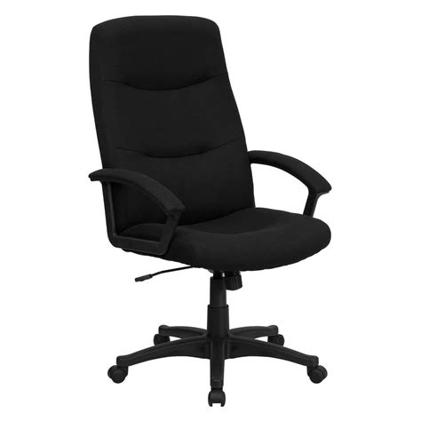 bureau high flash furniture high back black fabric executive swivel