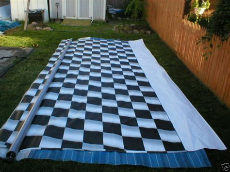 21' Rv Trailer Camper 5th Wheel Awning Race Flag Checkered