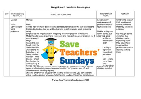 weight word problems ks2 worksheets lesson plans