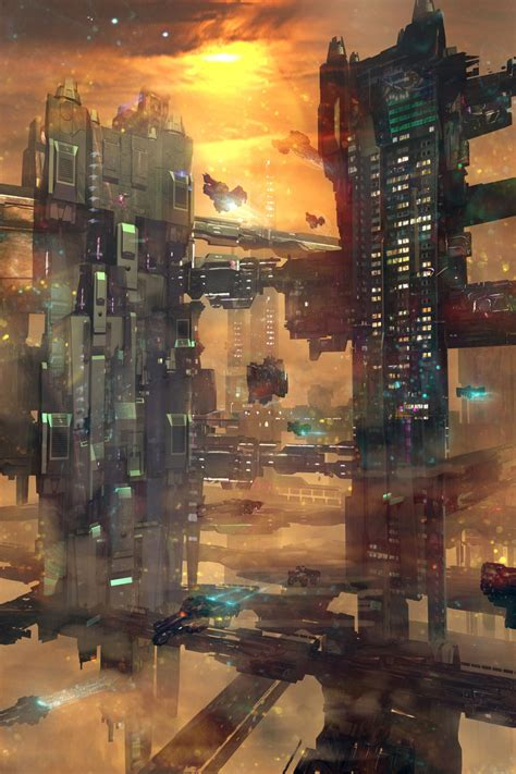 Scifi City By Mdelcambre On Deviantart