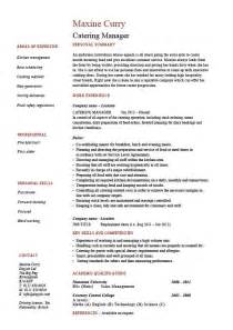 catering manager cv template food preparation