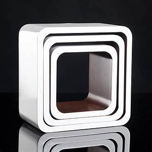 Wandregal 20 Cm Tief : cube regale 3 tlg extra tief b cher cd wandregal w rfel wandboard retro lounge ebay ~ Watch28wear.com Haus und Dekorationen