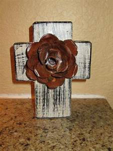 wall wood cross with iron rusty rose antique white color With kitchen colors with white cabinets with rustic iron candle holders