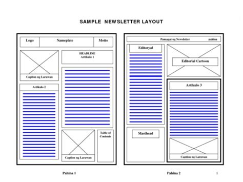Basic Newspaper Template by Basic Layout Principles Newspaper Layouting Guidelines
