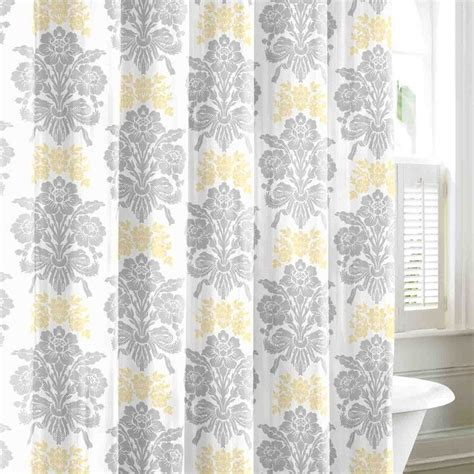 yellow and grey shower curtain and bright grey and yellow shower curtain neat