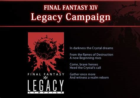 Check spelling or type a new query. Final Fantasy XIV: Legacy credit application site