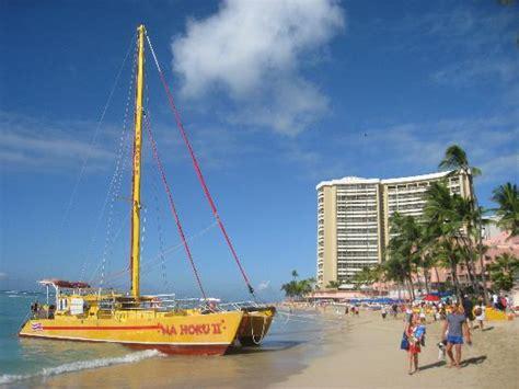 Catamaran Trips In Honolulu by Waikiki Beach Picture Of Na Hoku Ii Catamaran Honolulu