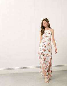 bershka turkey bershka long dress with front slits With robe longue bershka