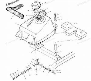Polaris Atv 2001 Oem Parts Diagram For Fuel Tank A01bg50aa