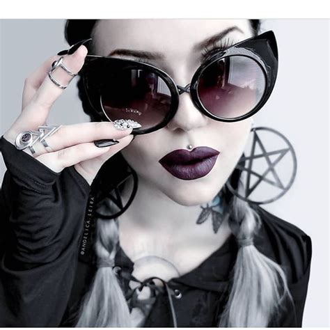 Angelic Black Cat leira slaying in black cat sunnies