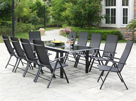 Table de jardin extensible 12 personnes + 10 chaises en aluminium Ravenne - Concept Usine