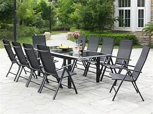 Table De Jardin Extensible Aluminium : table de jardin extensible 12 personnes 10 chaises en aluminium ravenne concept usine ~ Melissatoandfro.com Idées de Décoration