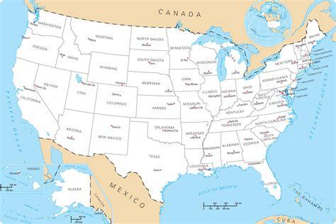 Carte Etats Unis Canada Avec Villes by Infos Sur Carte Etats Unis Arts Et Voyages