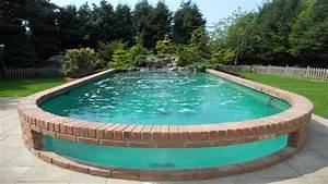 Piscines Semi Enterrées : pourquoi pr f rer la piscine semi enterr e pour votre jardin ~ Dallasstarsshop.com Idées de Décoration