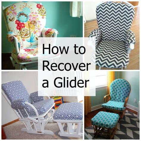 how to recover a nursery glider gliders diy tutorial
