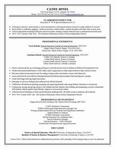 teacher resume best template collection With education resume examples