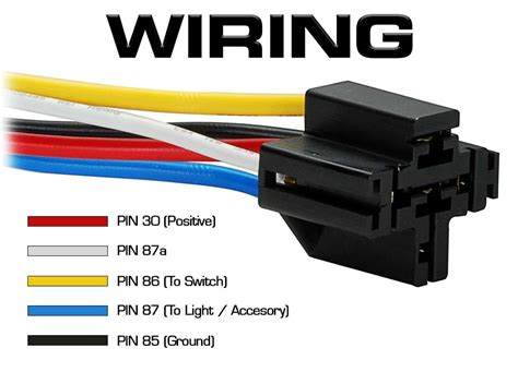 Amp Spdt Quality Automotive Relay With Wires