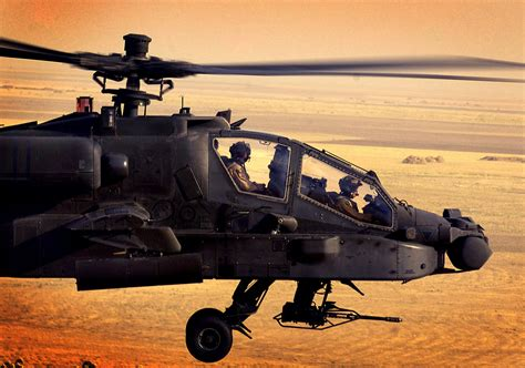Apache Helicopters Sunset Hd Wallpapers