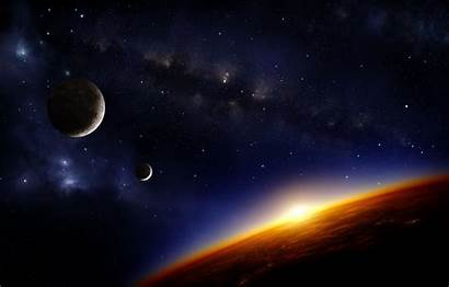 Space Cosmos Wallpapers Sci Fi Landscape Artwork