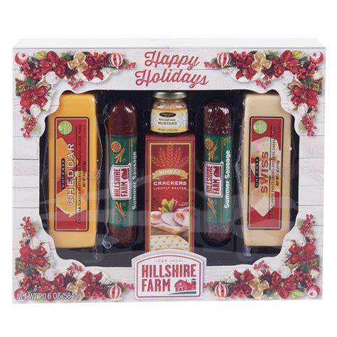 hillshire farm christmas gift set hillshire farm 2 sausage and 2 cheese gift set walmart