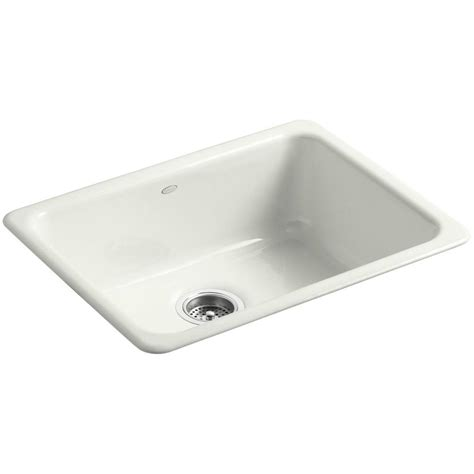 24 undermount kitchen sink kohler iron tones drop in undermount cast iron 24 in 3841