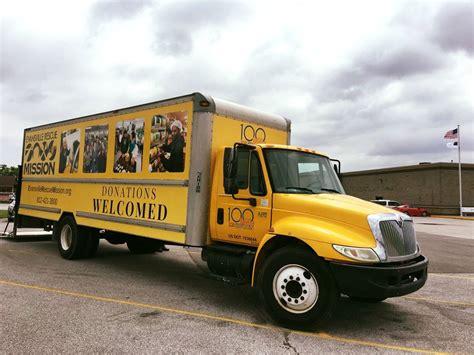 evansville rescue mission donation center  truck