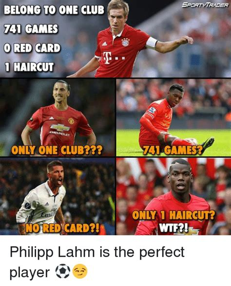 Players Club Meme - belong to one club 741 games o red card 1 haircut only one club min no red card sporty