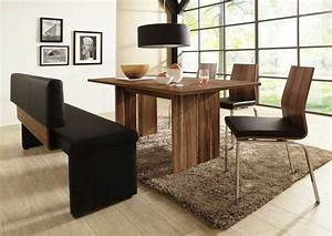 Essgruppe Mit Bank : essgruppe nussbaum massiv in modern design darunter 3 stuhl und 1 bank mit r ckenlehne f r ~ Indierocktalk.com Haus und Dekorationen