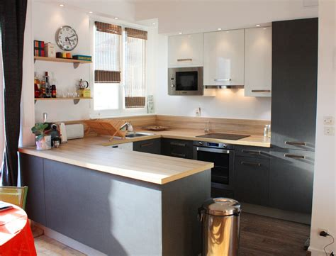 et cuisine home cuisine moderne blanc et bois