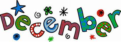 December Clip Month Cartoon Text Whimsical Doodle