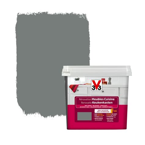 peinture v33 cuisine peinture de rénovation meubles cuisine v33 satin carbonate